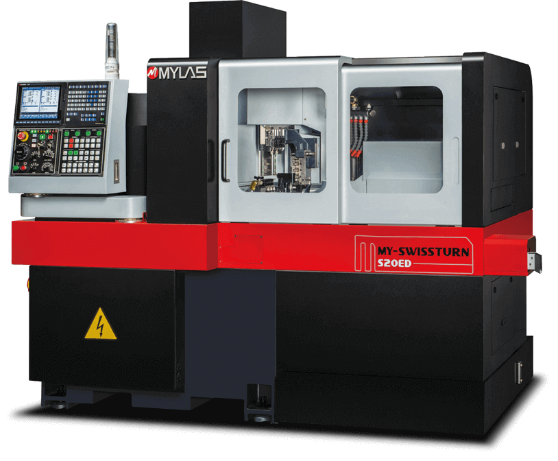 S20 Model Double Spindle 6 Axis Swiss Type Automatic Lathe